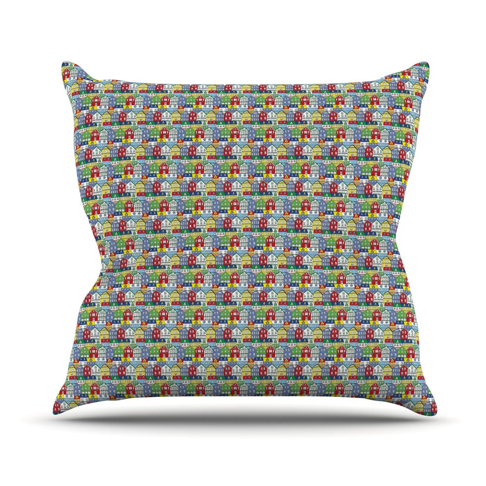 "Holly Helgeson ""Reykjavik"" Rainbow Pattern Throw Pillow - KESS InHouse  - 1"