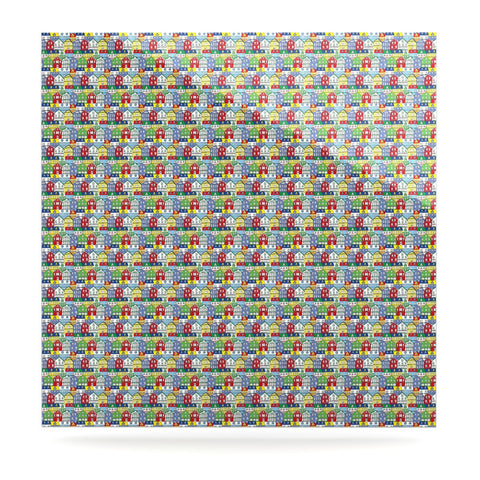 "Holly Helgeson ""Reykjavik"" Rainbow Pattern Luxe Square Panel - KESS InHouse  - 1"