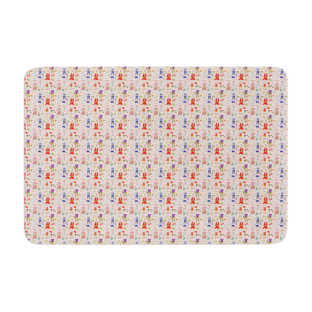 "Holly Helgeson ""Miss Ruby"" Pink Pattern Memory Foam Bath Mat - KESS InHouse"