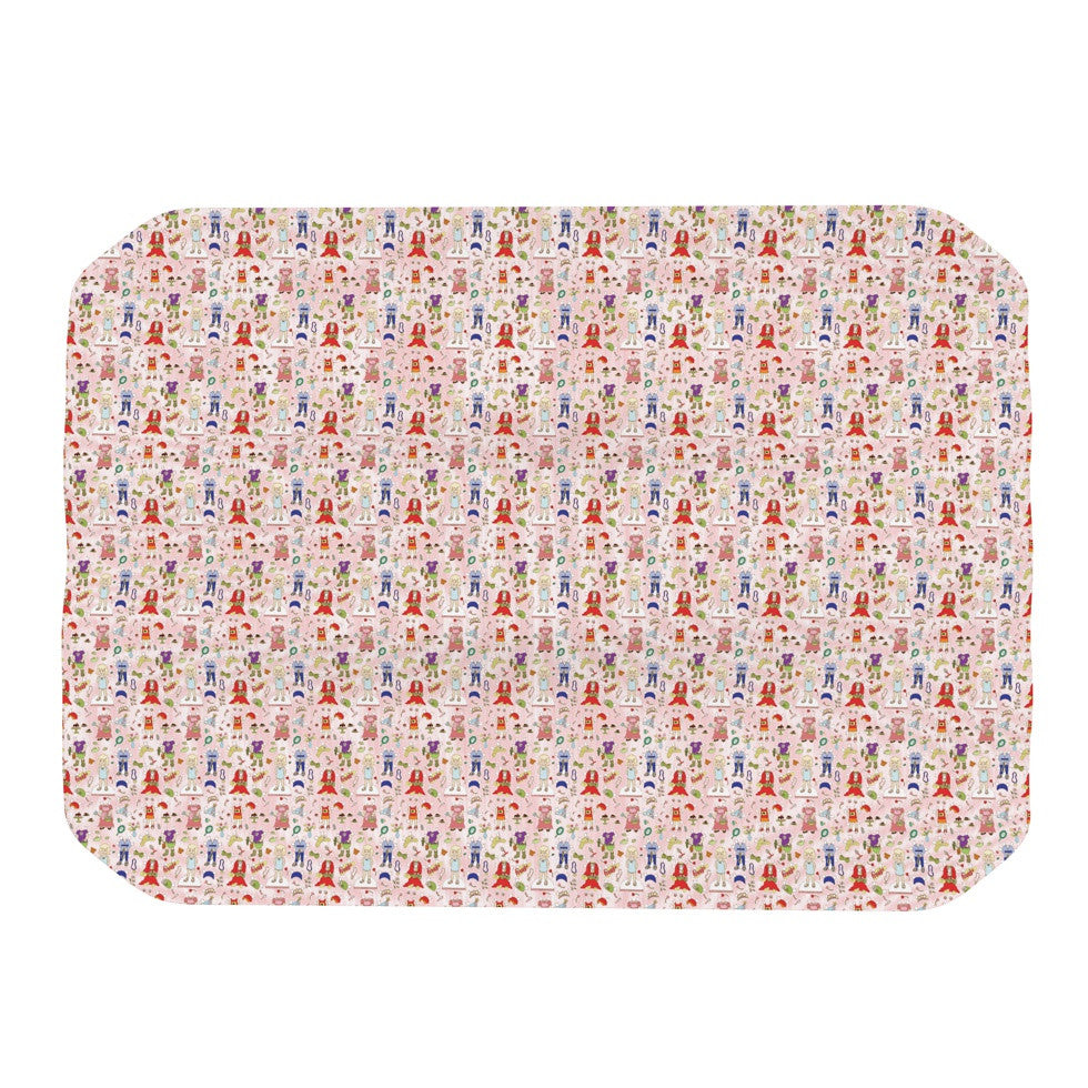 "Holly Helgeson ""Miss Ruby"" Pink Pattern Place Mat - KESS InHouse"