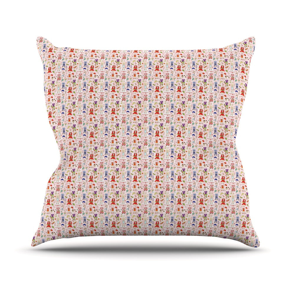 "Holly Helgeson ""Miss Ruby"" Pink Pattern Throw Pillow - KESS InHouse  - 1"