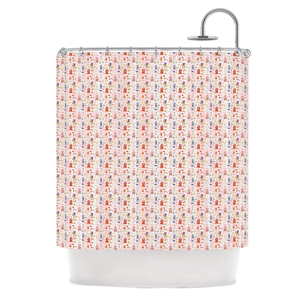 "Holly Helgeson ""Miss Ruby"" Pink Pattern Shower Curtain - KESS InHouse"