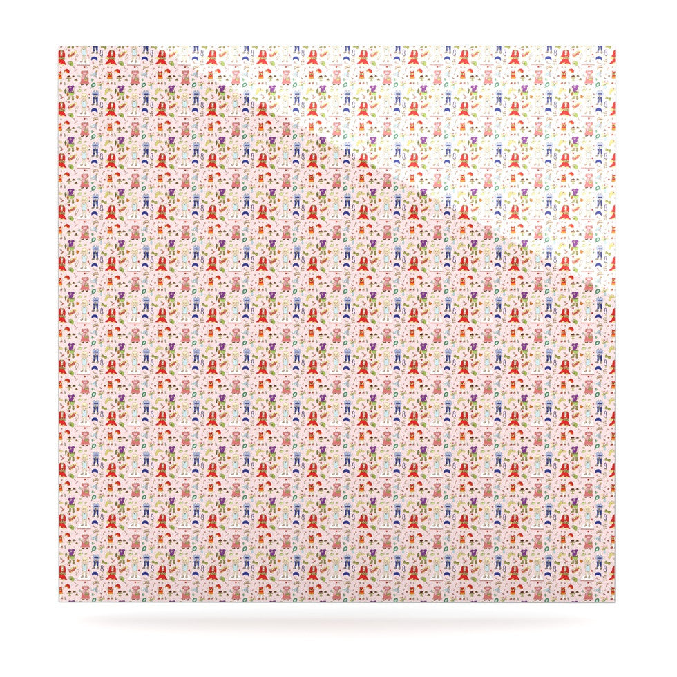 "Holly Helgeson ""Miss Ruby"" Pink Pattern Luxe Square Panel - KESS InHouse  - 1"