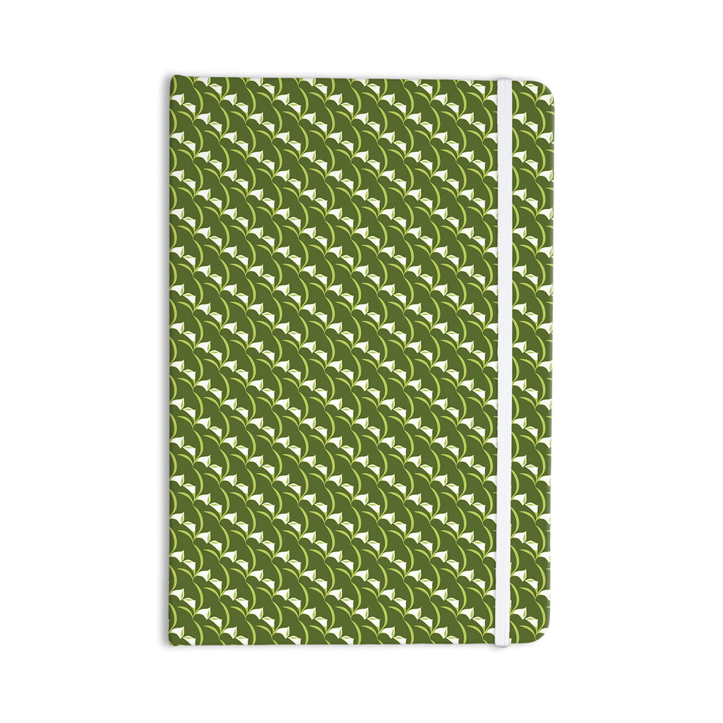 "Holly Helgeson ""Deco Calla Lily"" Green White Everything Notebook - KESS InHouse  - 1"