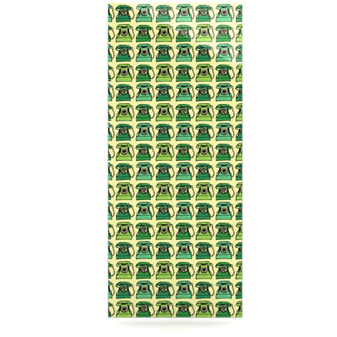 "Holly Helgeson ""Vintage Telephone"" Green Pattern Luxe Rectangle Panel - KESS InHouse  - 1"