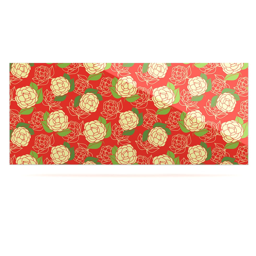 "Holly Helgeson ""Cammelia"" Red Yellow Luxe Rectangle Panel - KESS InHouse  - 1"