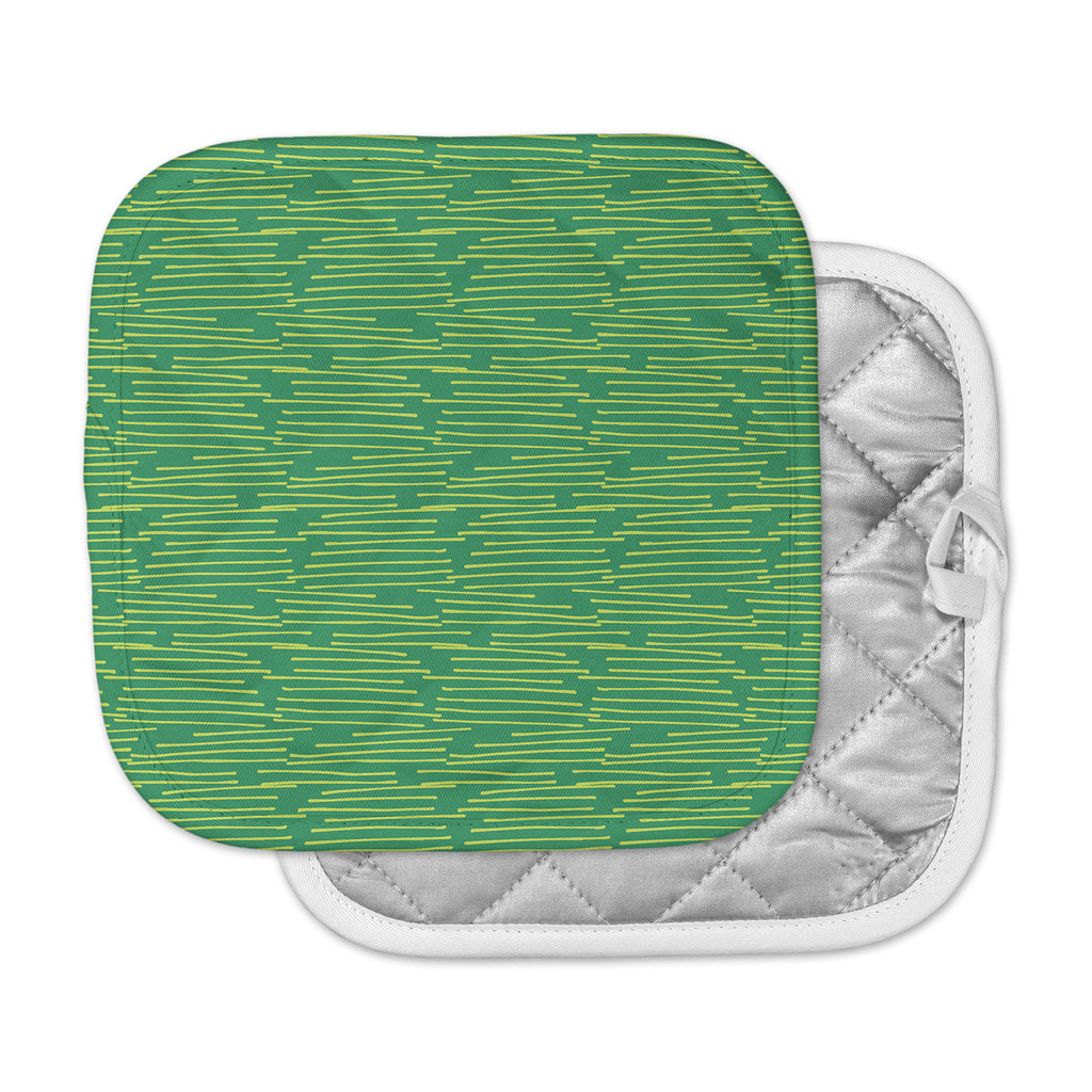 "Holly Helgeson ""Twiggy"" Green Line Pot Holder"