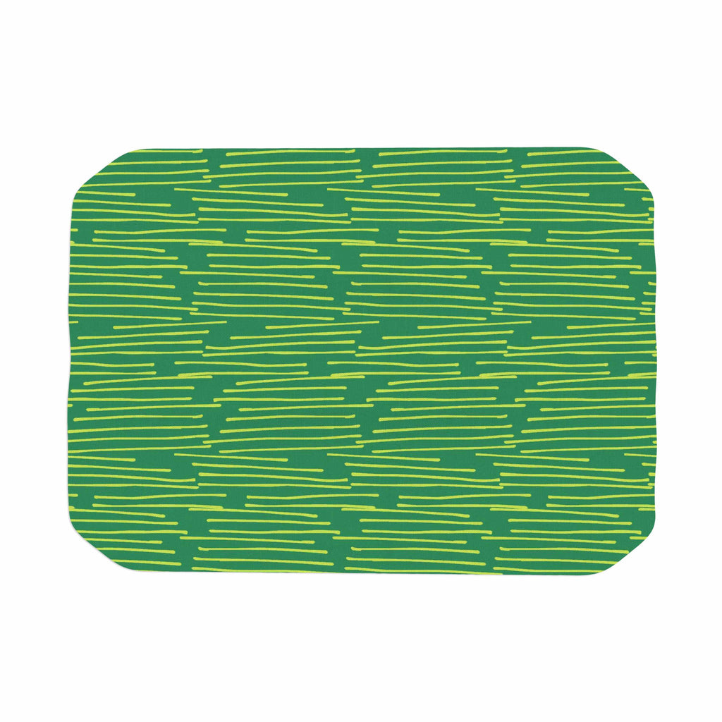 "Holly Helgeson ""Twiggy"" Green Line Place Mat - KESS InHouse"
