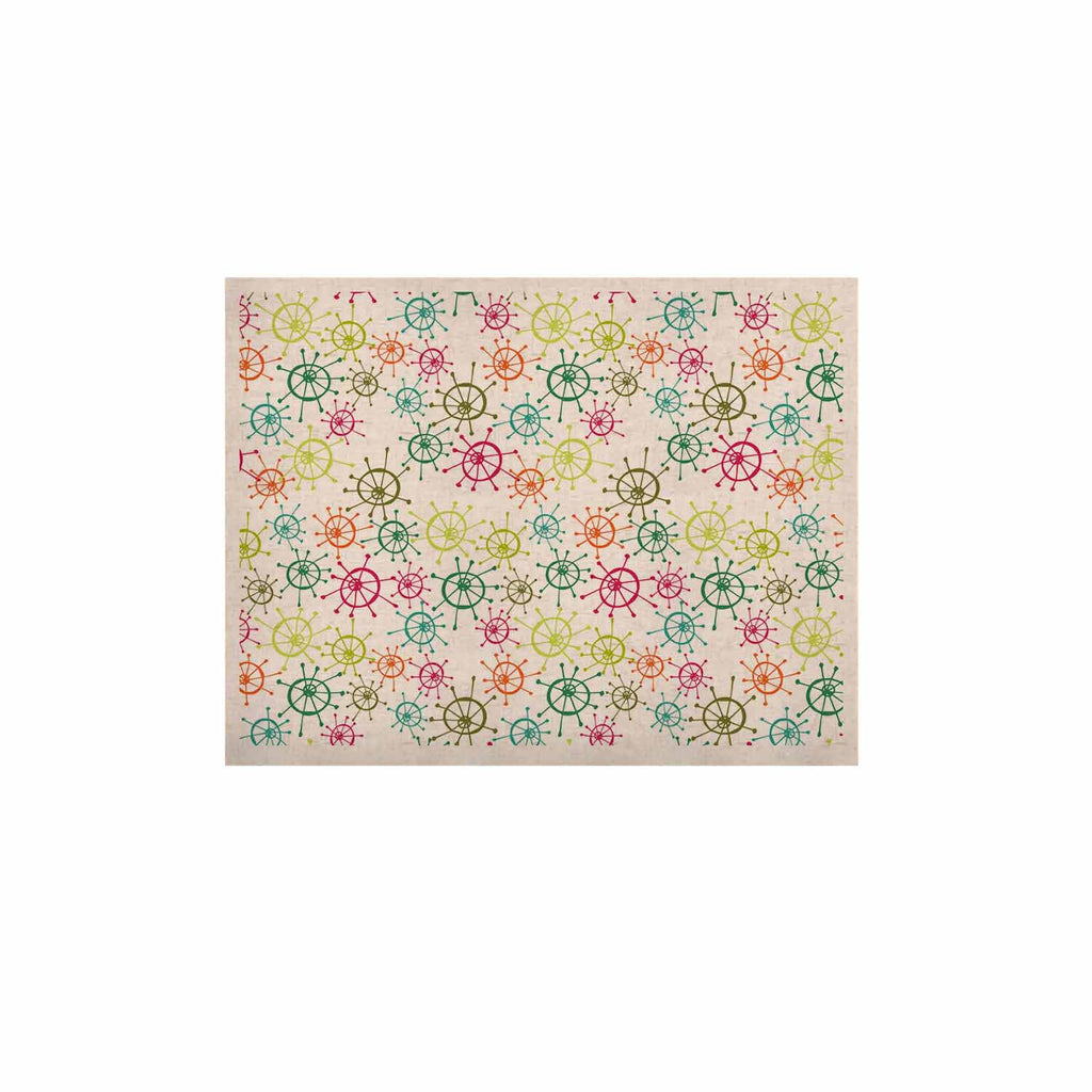 "Holly Helgeson ""Mod Flower Burst"" White Multicolor KESS Naturals Canvas (Frame not Included) - KESS InHouse  - 1"
