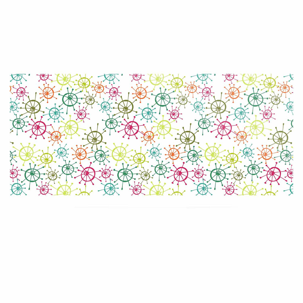 "Holly Helgeson ""Mod Flower Burst"" White Multicolor Luxe Rectangle Panel - KESS InHouse  - 1"