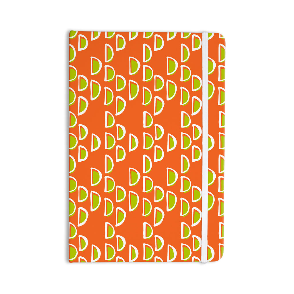 "Holly Helgeson ""Geo Seed"" Orange Everything Notebook - KESS InHouse  - 1"