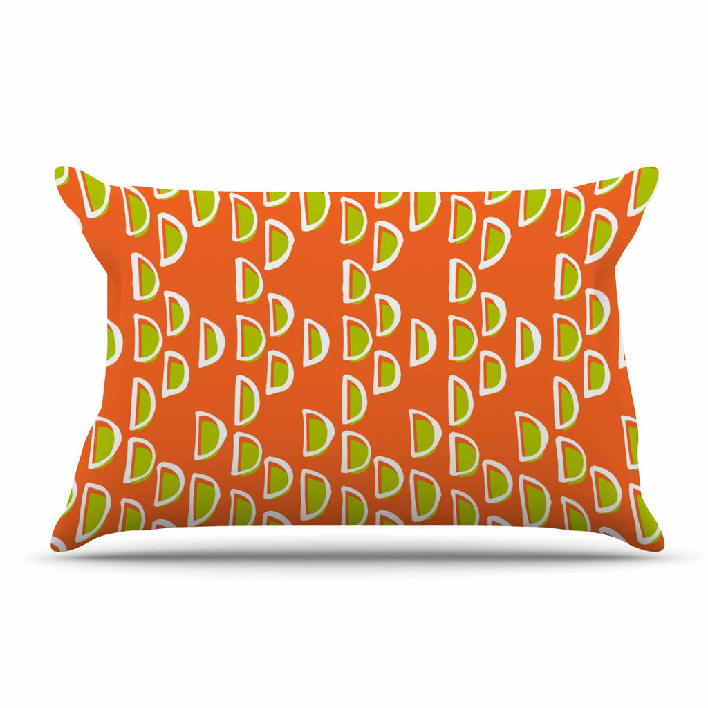 "Holly Helgeson ""Geo Seed"" Orange Pillow Sham - KESS InHouse"