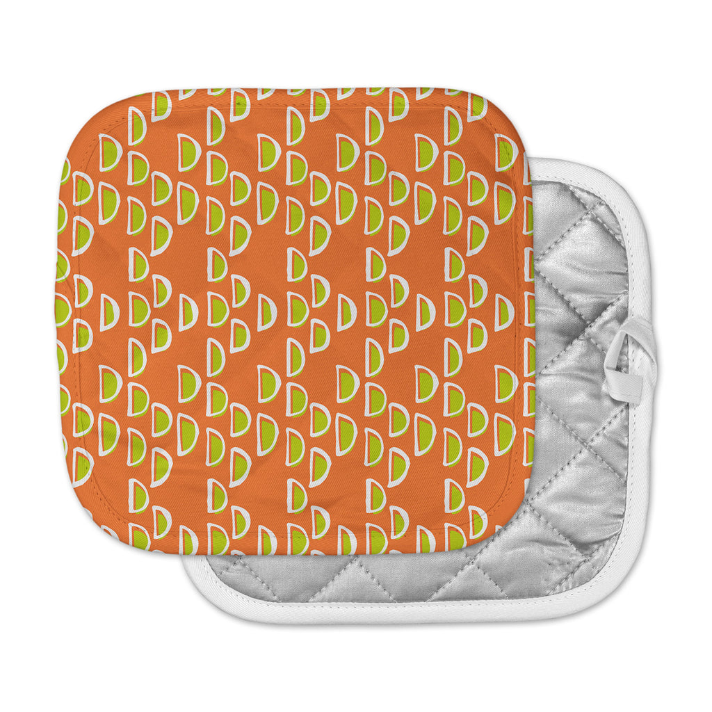 "Holly Helgeson ""Geo Seed"" Orange Pot Holder"