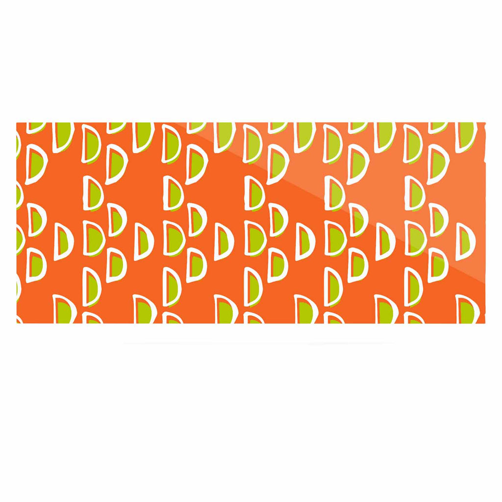 "Holly Helgeson ""Geo Seed"" Orange Luxe Rectangle Panel - KESS InHouse  - 1"