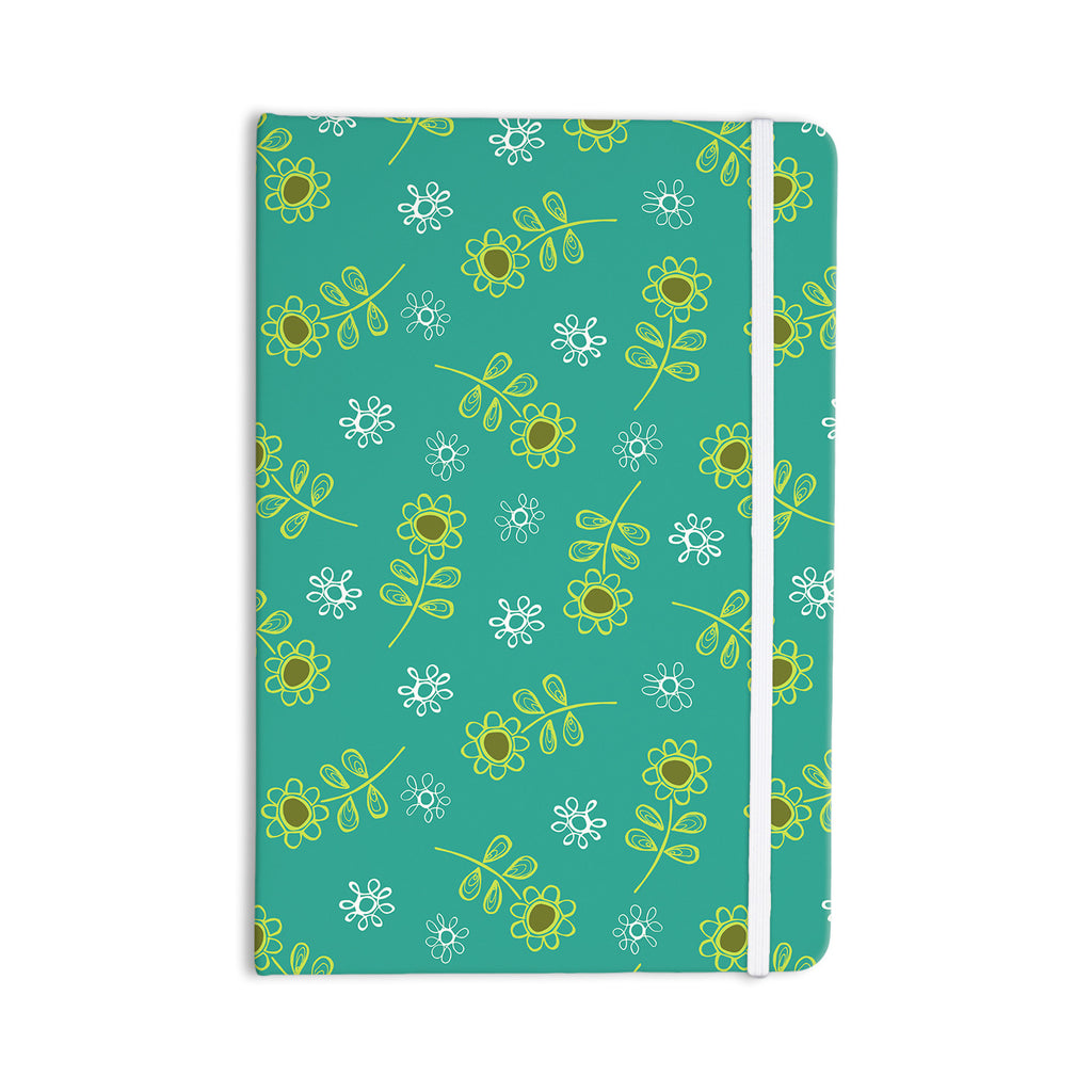 "Holly Helgeson ""Ditsy Daisy"" Teal Everything Notebook - KESS InHouse  - 1"