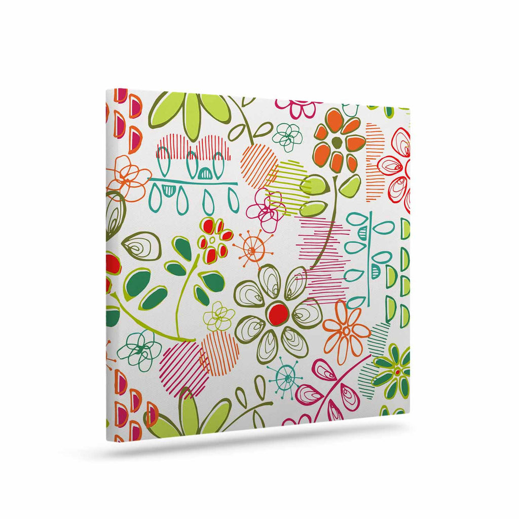 "Holly Helgeson ""Wildflower"" White Multicolor Canvas Art - KESS InHouse  - 1"
