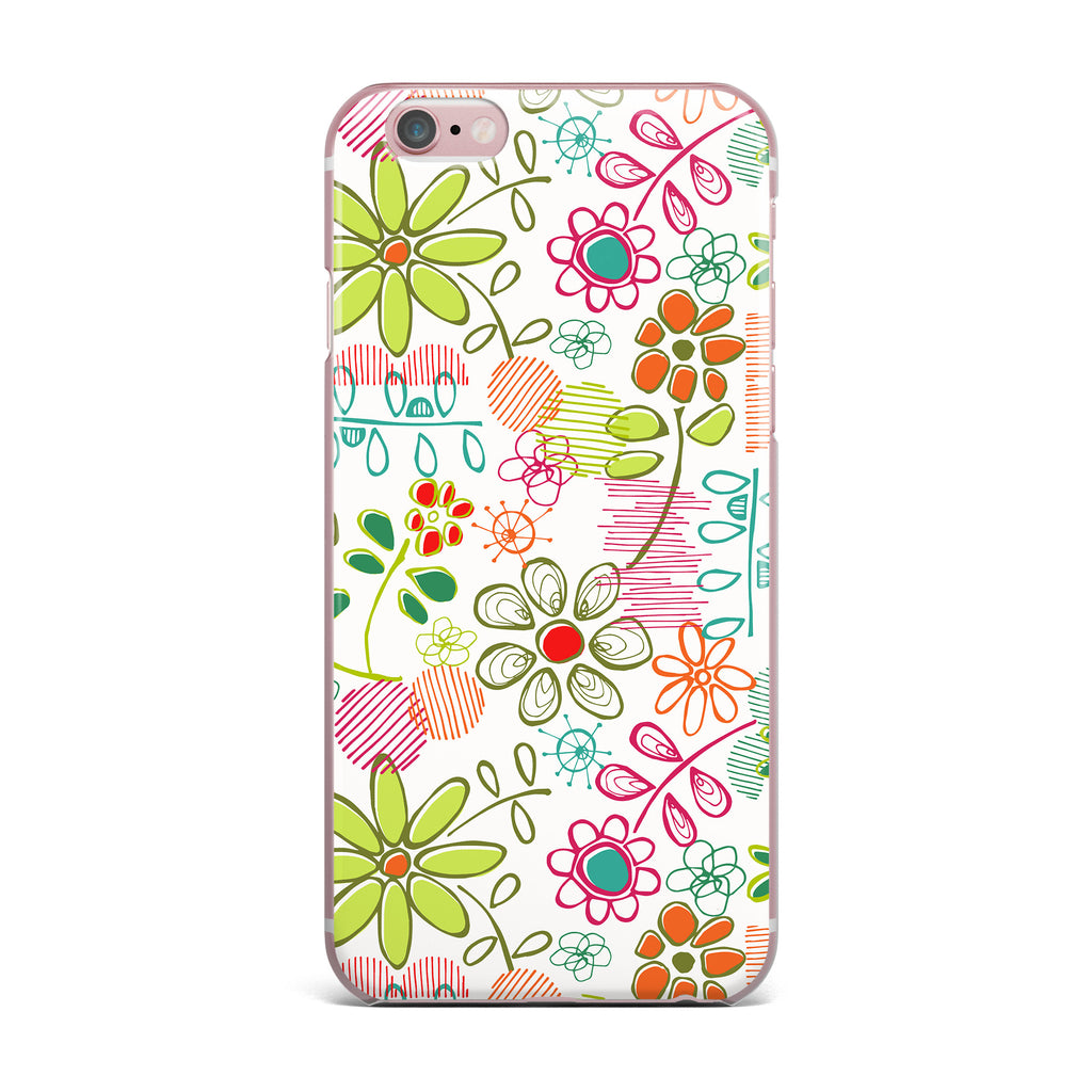 "Holly Helgeson ""Wildflower"" White Multicolor iPhone Case - KESS InHouse"