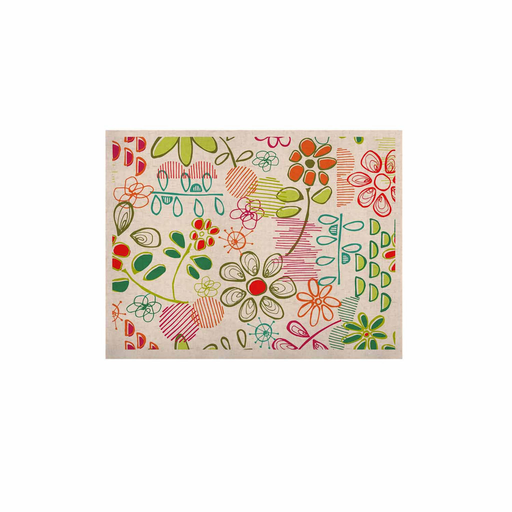 "Holly Helgeson ""Wildflower"" White Multicolor KESS Naturals Canvas (Frame not Included) - KESS InHouse  - 1"