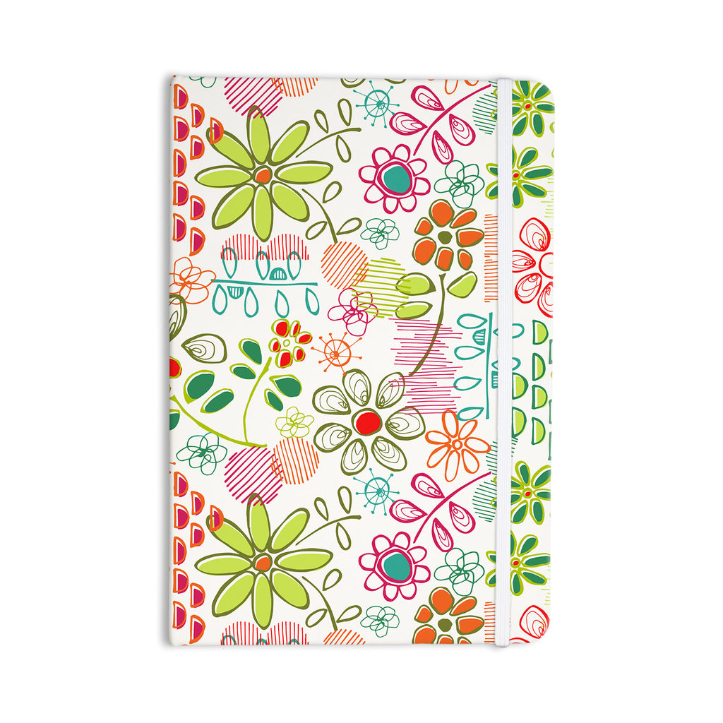 "Holly Helgeson ""Wildflower"" White Multicolor Everything Notebook - KESS InHouse  - 1"