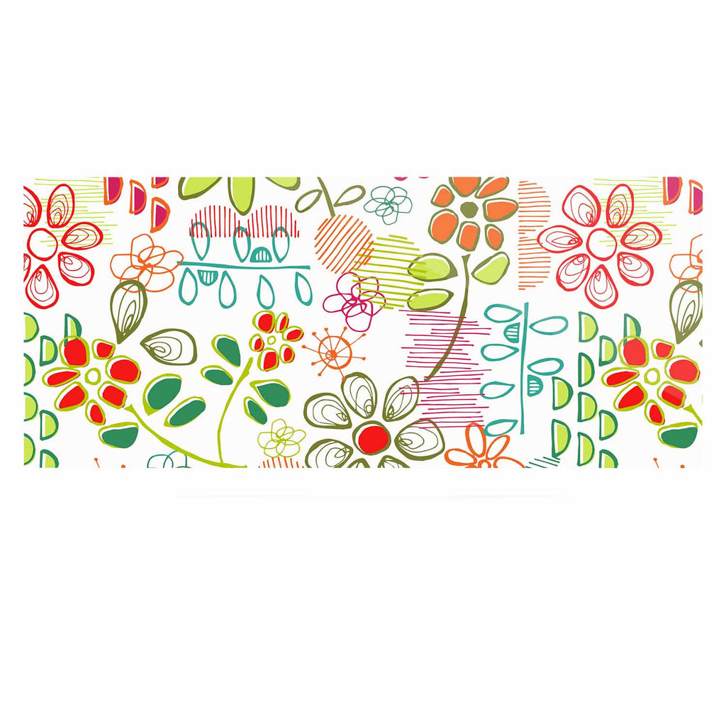 "Holly Helgeson ""Wildflower"" White Multicolor Luxe Rectangle Panel - KESS InHouse  - 1"