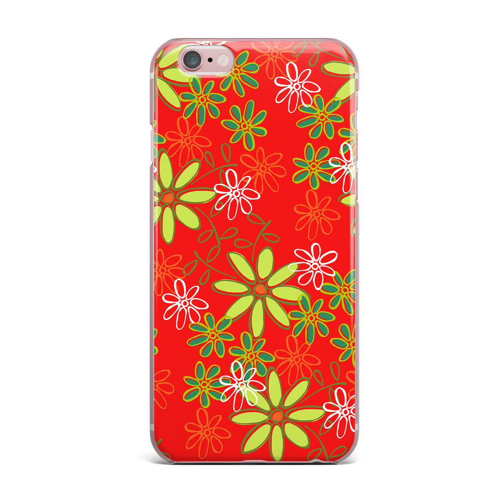"Holly Helgeson ""Daisy Mae"" Red Floral iPhone Case - KESS InHouse"
