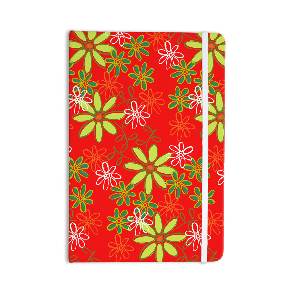 "Holly Helgeson ""Daisy Mae"" Red Floral Everything Notebook - KESS InHouse  - 1"