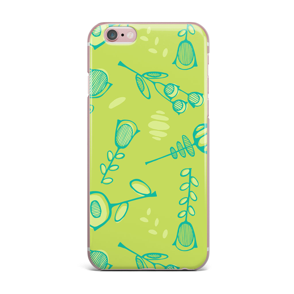 "Holly Helgeson ""Hattie Too"" Green Floral iPhone Case - KESS InHouse"