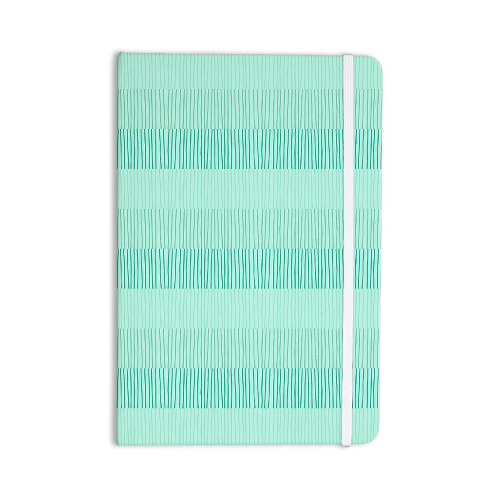 "Holly Helgeson ""Mod Grass"" Teal Lines Everything Notebook - KESS InHouse  - 1"