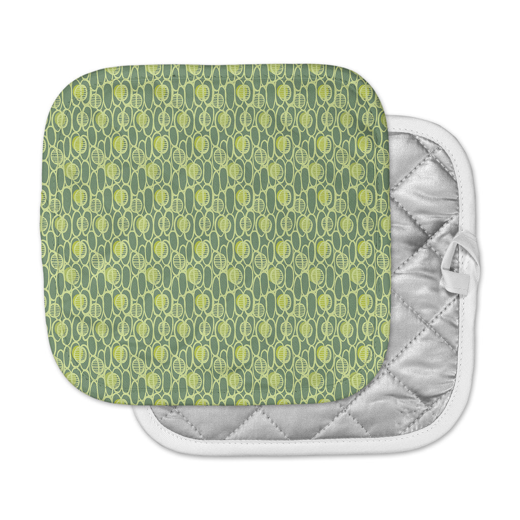 "Holly Helgeson ""Pod Perfect"" Green Patttern Pot Holder"