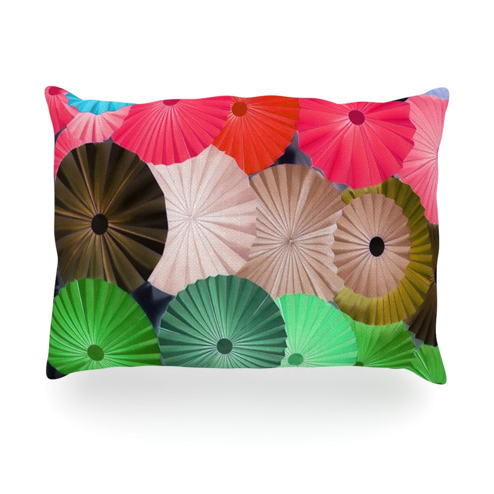 "Heidi Jennings ""Parasol"" Paper Circle Oblong Pillow - KESS InHouse"
