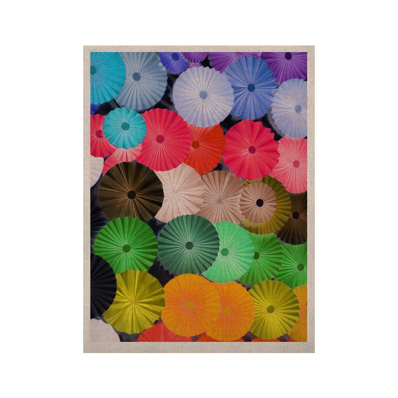"Heidi Jennings ""Parasol"" Paper Circle KESS Naturals Canvas (Frame not Included) - KESS InHouse  - 1"