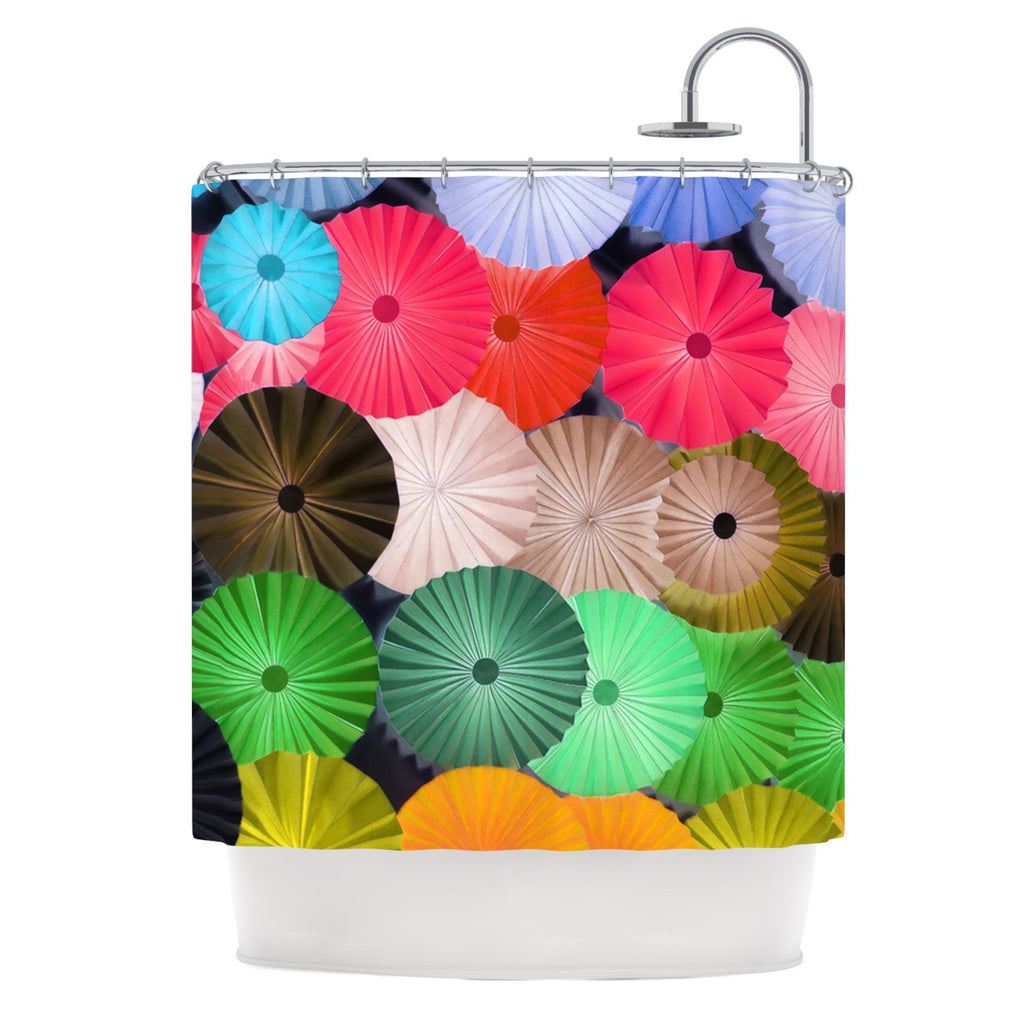 "Heidi Jennings ""Parasol"" Paper Circle Shower Curtain - KESS InHouse"