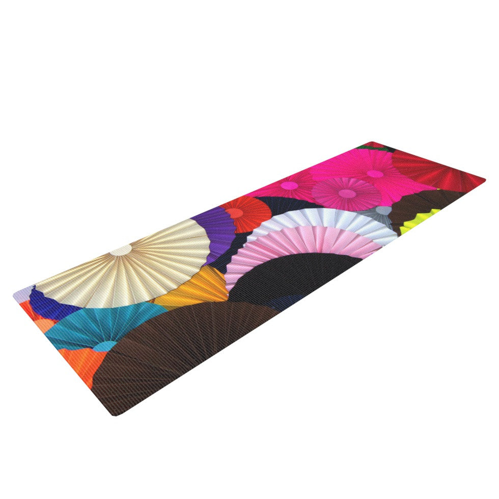 "Heidi Jennings ""Madness"" Rainbow Circle Yoga Mat - KESS InHouse  - 1"