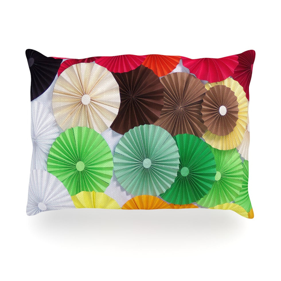 "Heidi Jennings ""Adored"" Colored Circles Oblong Pillow - KESS InHouse"