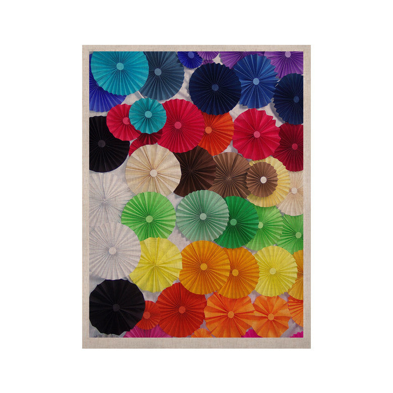 "Heidi Jennings ""Adored"" Colored Circles KESS Naturals Canvas (Frame not Included) - KESS InHouse  - 1"