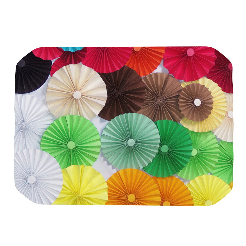 "Heidi Jennings ""Adored"" Colored Circles Place Mat - KESS InHouse"