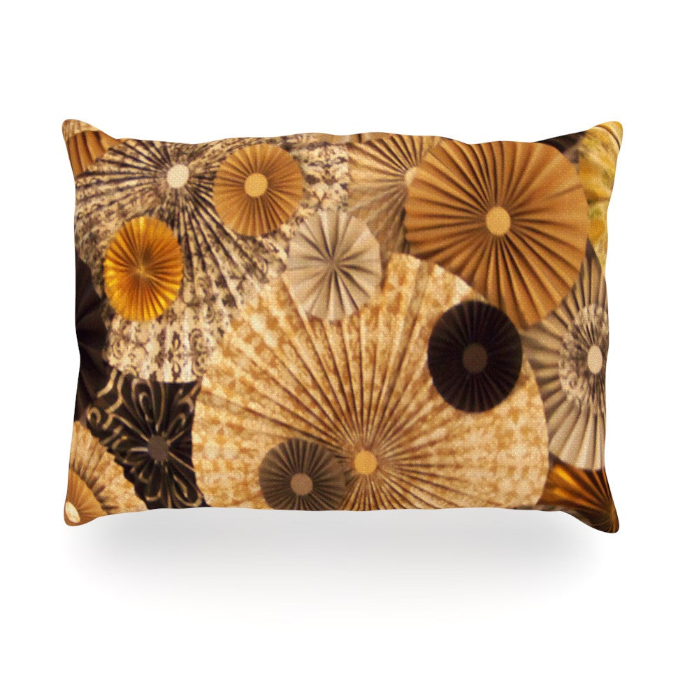 "Heidi Jennings ""Grounded"" Brown Paper Oblong Pillow - KESS InHouse"