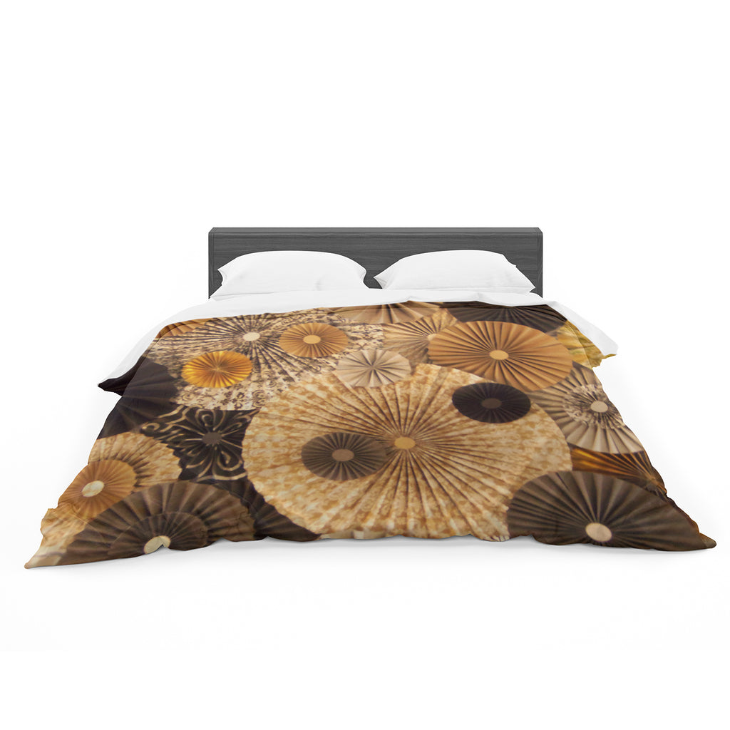 "Heidi Jennings ""Grounded"" Brown Paper Featherweight Duvet Cover"
