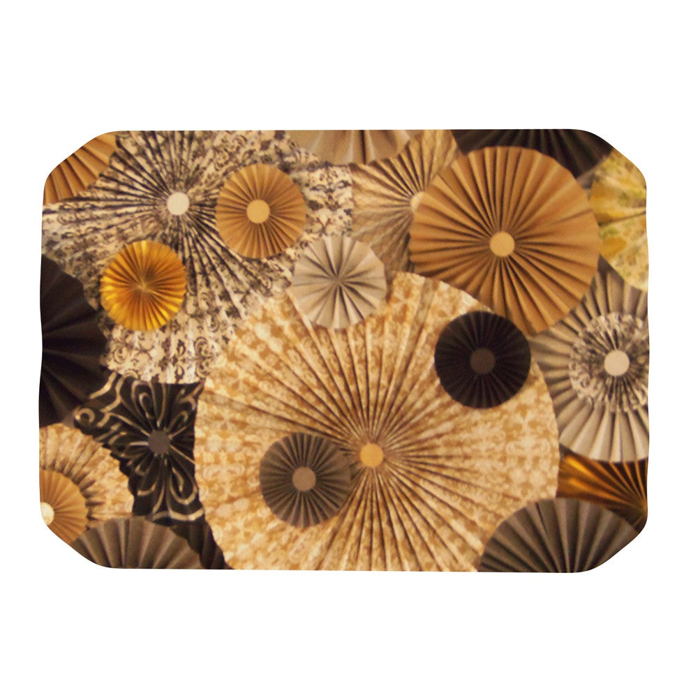 "Heidi Jennings ""Grounded"" Brown Paper Place Mat - KESS InHouse"