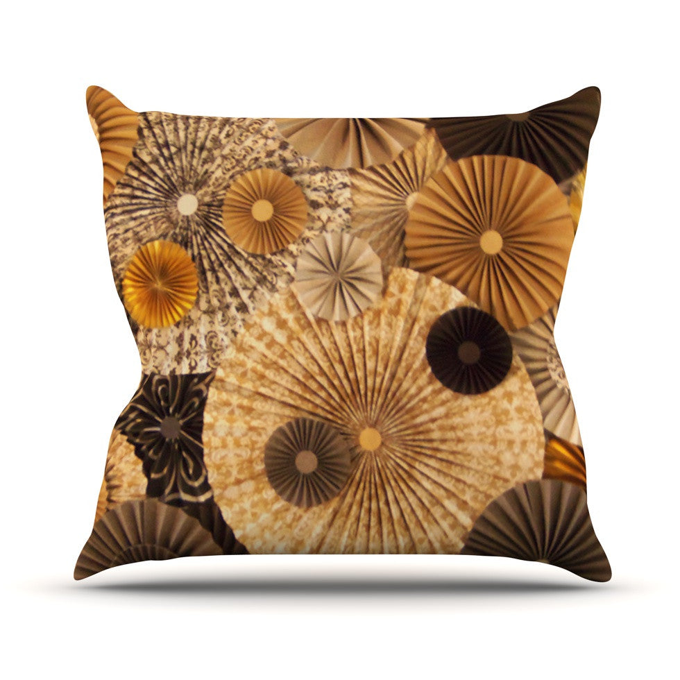 "Heidi Jennings ""Grounded"" Brown Paper Outdoor Throw Pillow - KESS InHouse  - 1"