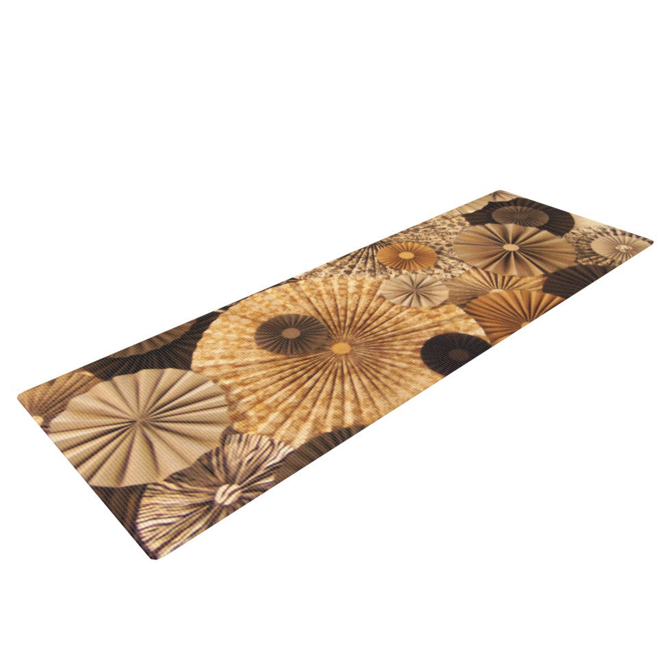 "Heidi Jennings ""Grounded"" Brown Paper Yoga Mat - KESS InHouse  - 1"