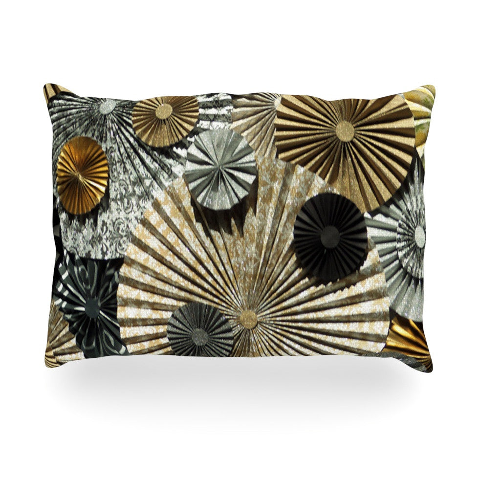 "Heidi Jennings ""All That Glitters"" Brown Glitter Oblong Pillow - KESS InHouse"