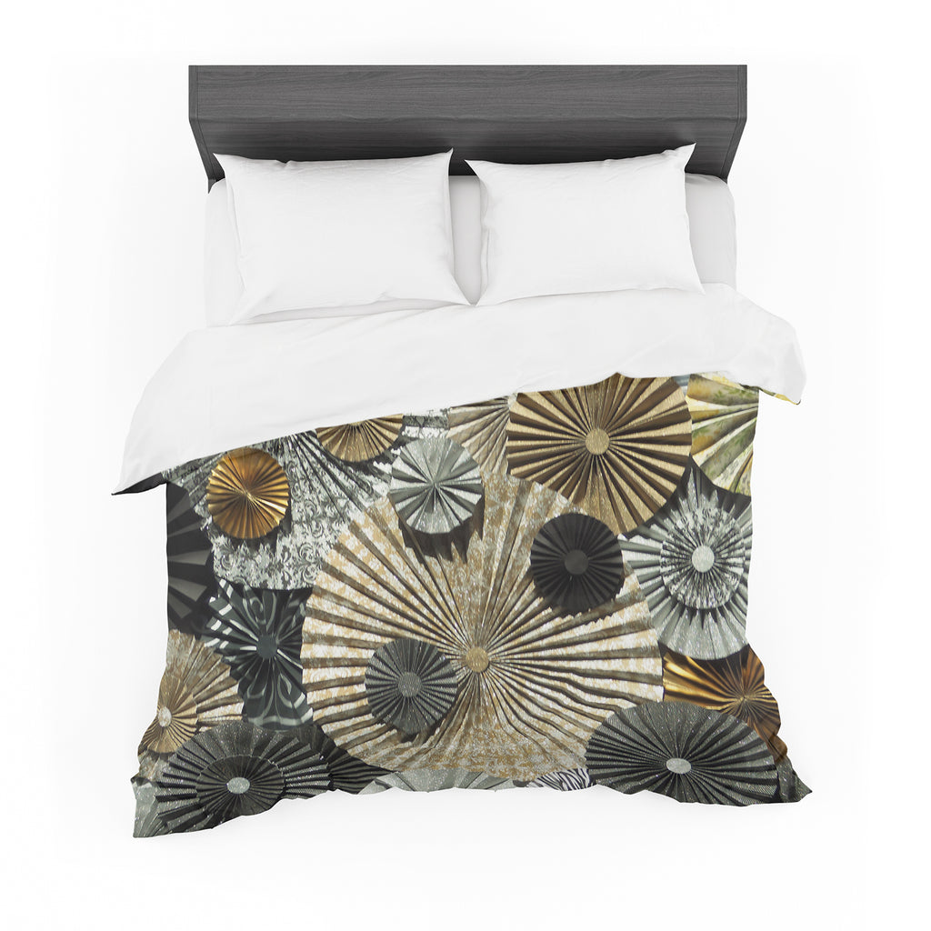 "Heidi Jennings ""All That Glitters"" Brown Glitter Featherweight Duvet Cover"