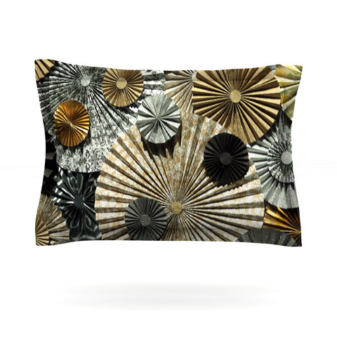 "Heidi Jennings ""All That Glitters"" Brown Glitter Pillow Sham - Outlet Item"