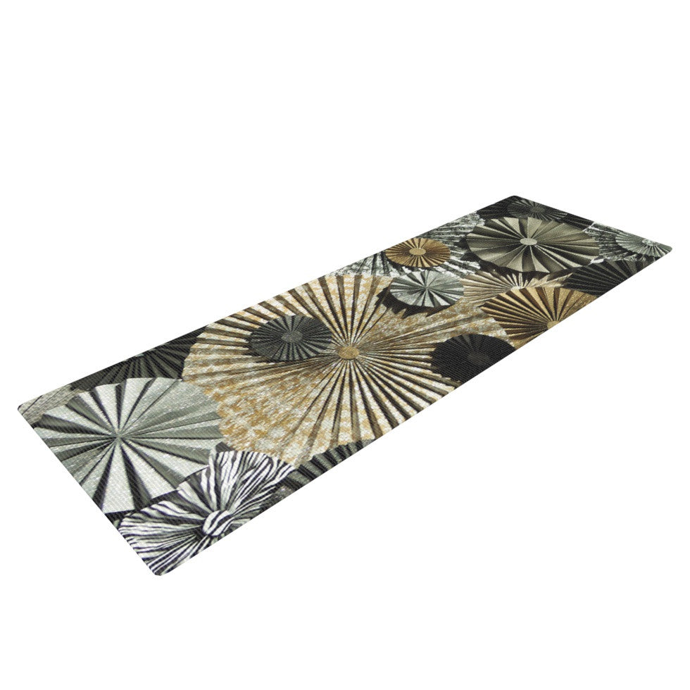 "Heidi Jennings ""All That Glitters"" Brown Glitter Yoga Mat - KESS InHouse  - 1"