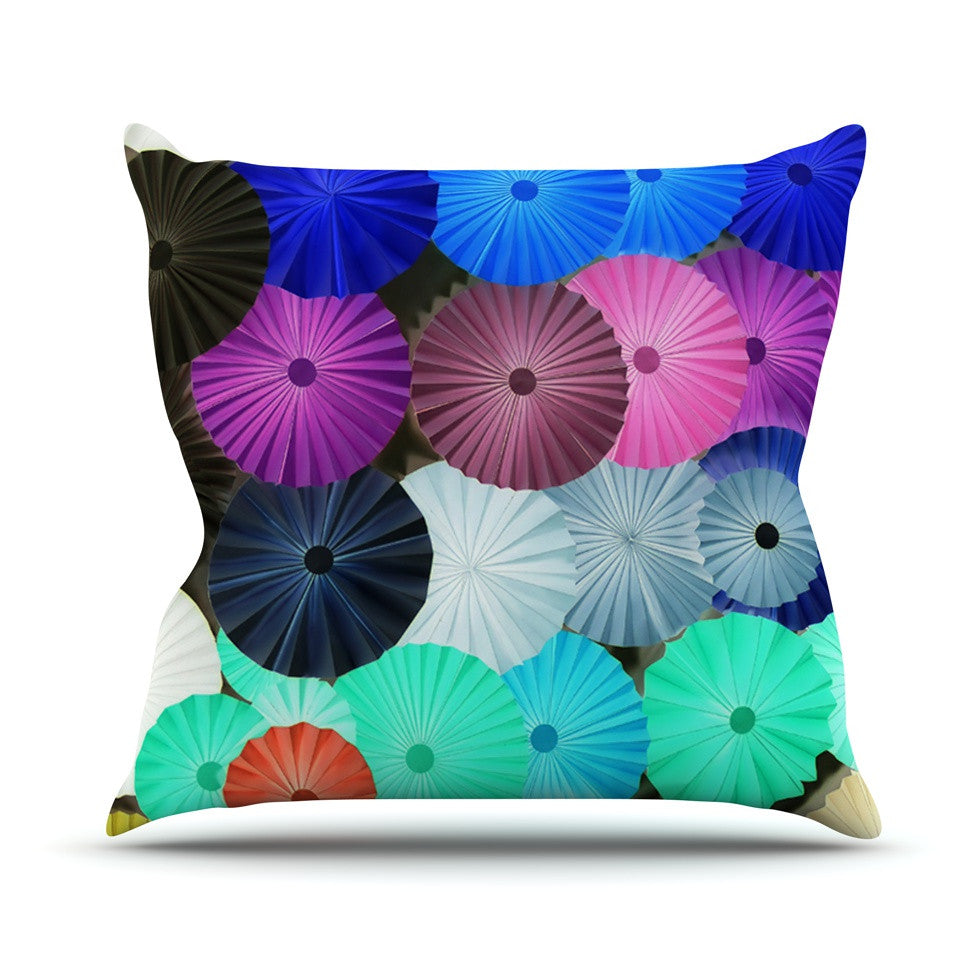 "Heidi Jennings ""Graceful"" Purple Teal Outdoor Throw Pillow - KESS InHouse  - 1"