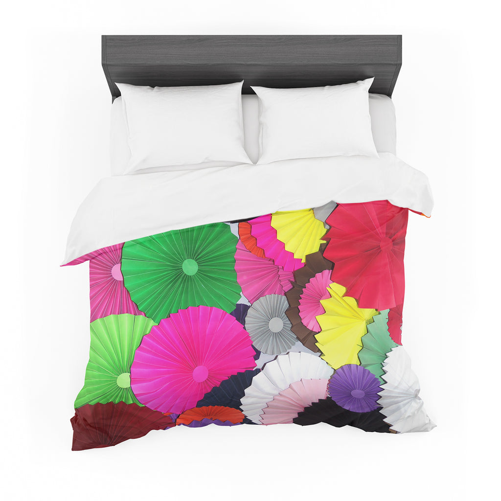 "Heidi Jennings ""Tempting"" Multicolored Circles Featherweight Duvet Cover"