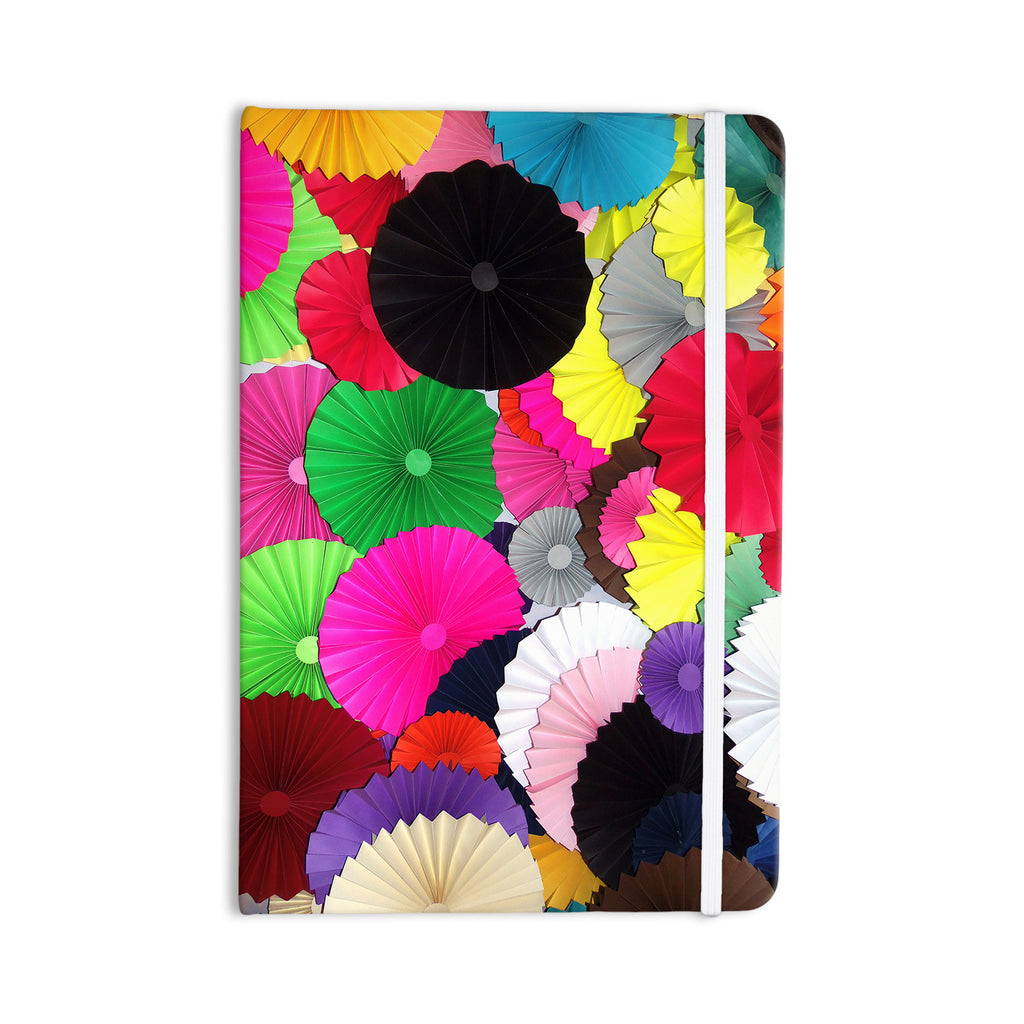 "Heidi Jennings ""Tempting"" Multicolored Circles Everything Notebook - KESS InHouse  - 1"