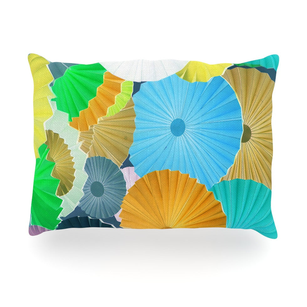 "Heidi Jennings ""Curiousity"" Cool Blue Oblong Pillow - KESS InHouse"
