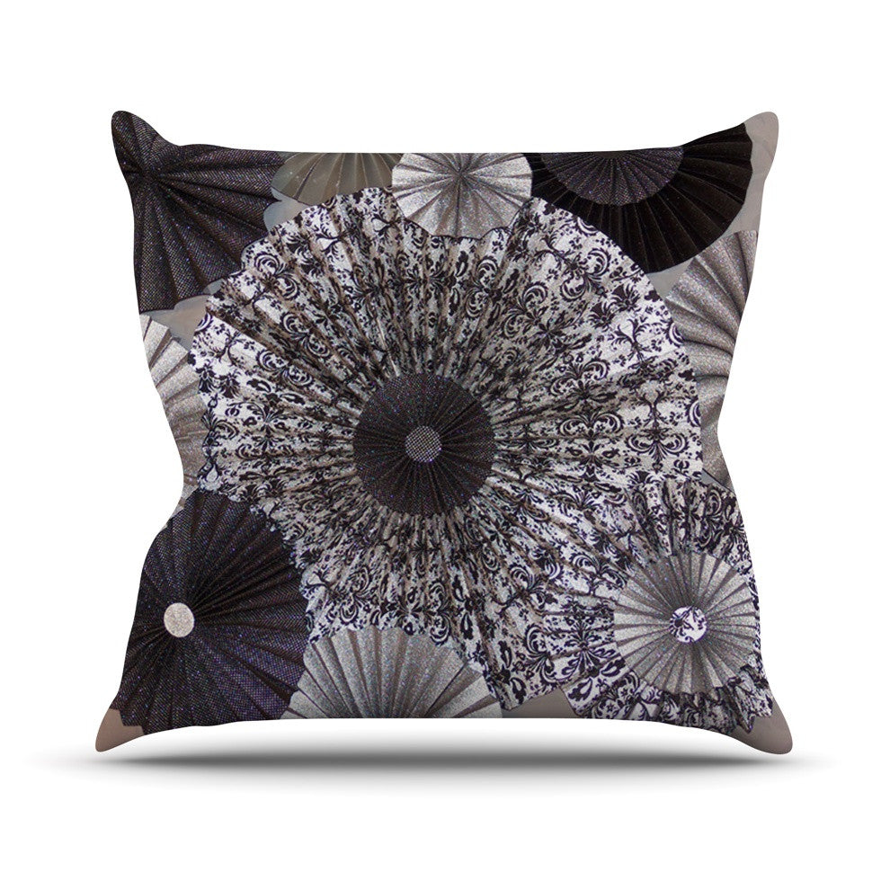 "Heidi Jennings ""Shadows"" Dark Circles Throw Pillow - KESS InHouse  - 1"